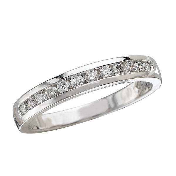 Matching Wedding Band, 14kt gold, Stones: Diamond - White