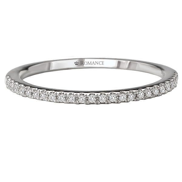 Matching Wedding Band, 18kt gold, Stones: Diamond - White
