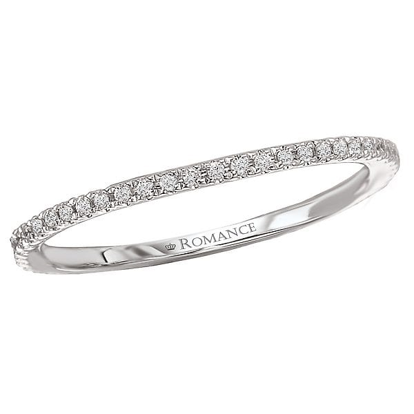 Micro-Set Diamond Wedding Band, 18kt gold, Stones: Diamond - White