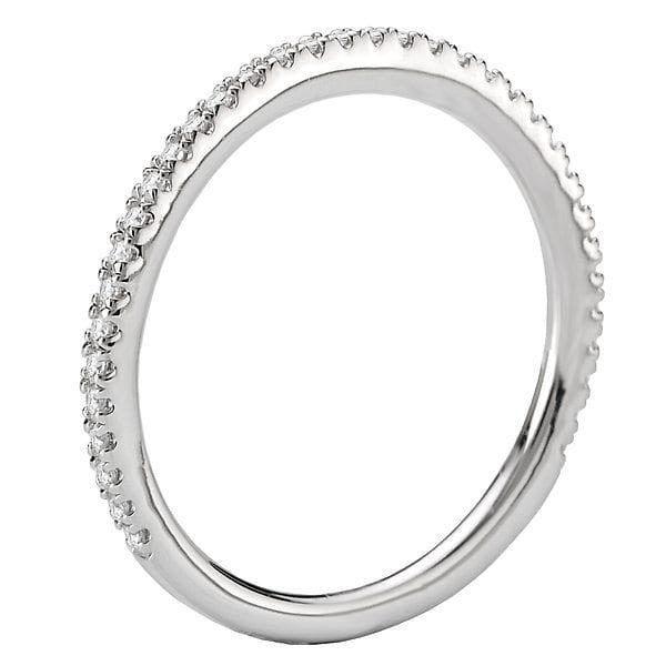 Micro-Set Diamond Wedding Band, 18kt gold, Stones: Diamond - White