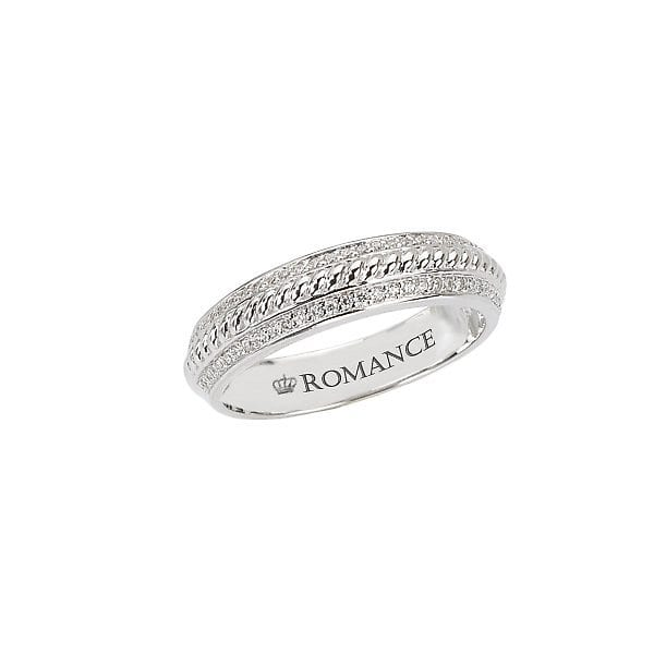 Matching Wedding Band, 18kt gold, Stones: Diamond - White