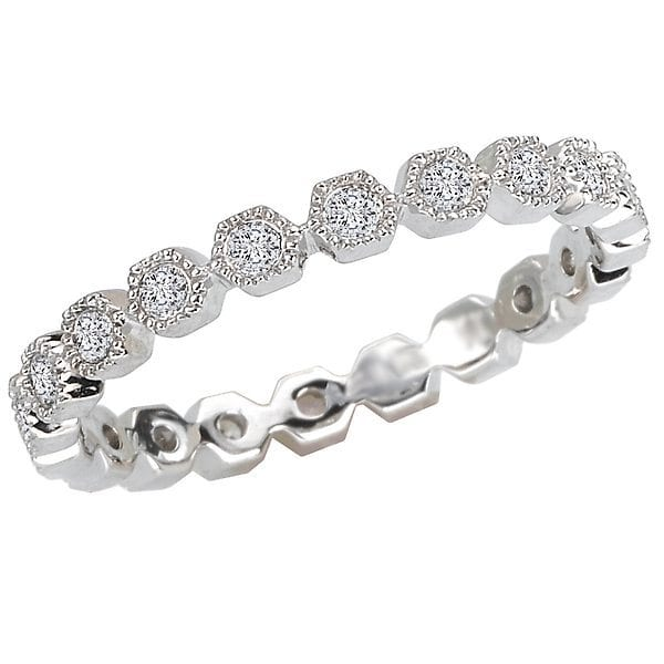 Diamond Eternity Band, 18kt gold, Stones: Diamond - White