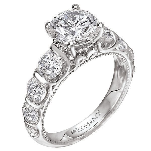 Peg Head Diamond Ring