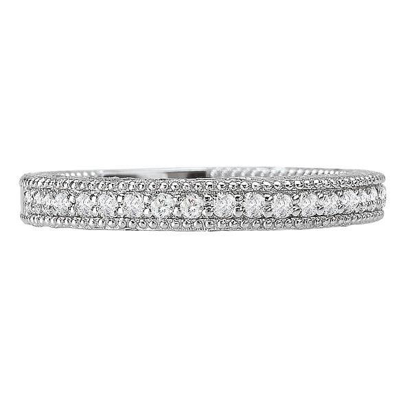 Anniversary Wedding Band, 18kt gold, Stones: Diamond - White