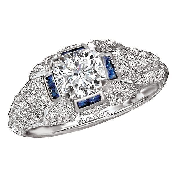 90318155e Sapphire and Diamond Semi-Mount Ring | CDI Diamonds & Jewelry ...