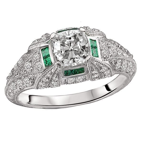 daaedc593 Tsavorite and Diamond Semi-Mount Ring | CDI Diamonds & Jewelry ...