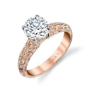 13179HE Solitaire Diamond Engagement Ring