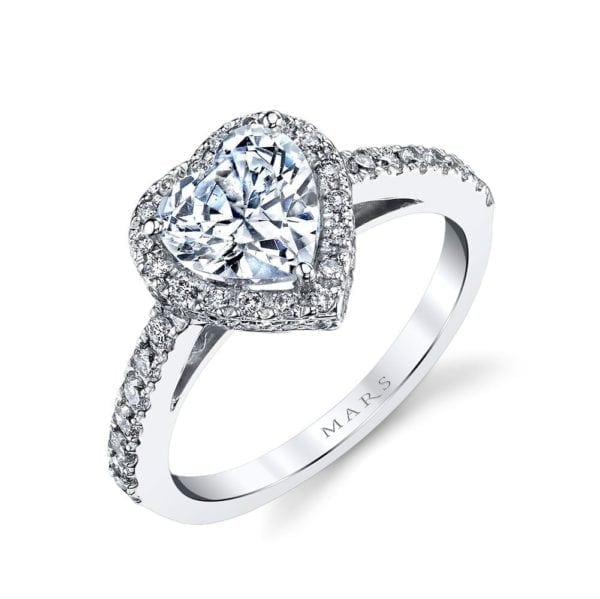13759  Diamond Engagement Ring 0.42 Ctw.