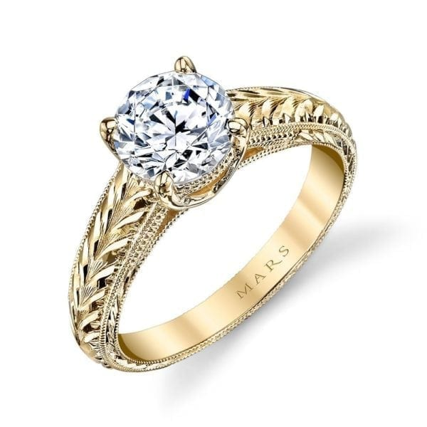 14336HE Solitaire Engagement Ring