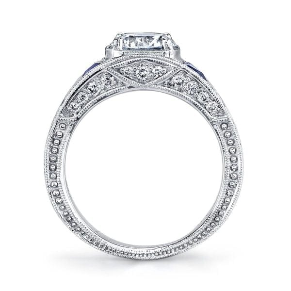 14586  Diamond Engagement Ring 0.30 Ct Dia, 0.24 Ct Saph.