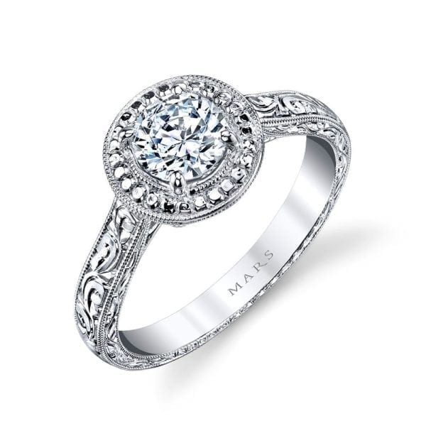 14761HE Solitaire Engagement Ring