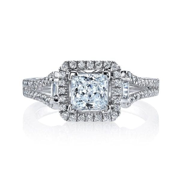 25003  Diamond Engagement Ring 0.35 Ct Rd, 0.07 Ct Bg.