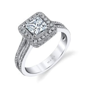 25014  Diamond Engagement Ring 0.42 Ctw.