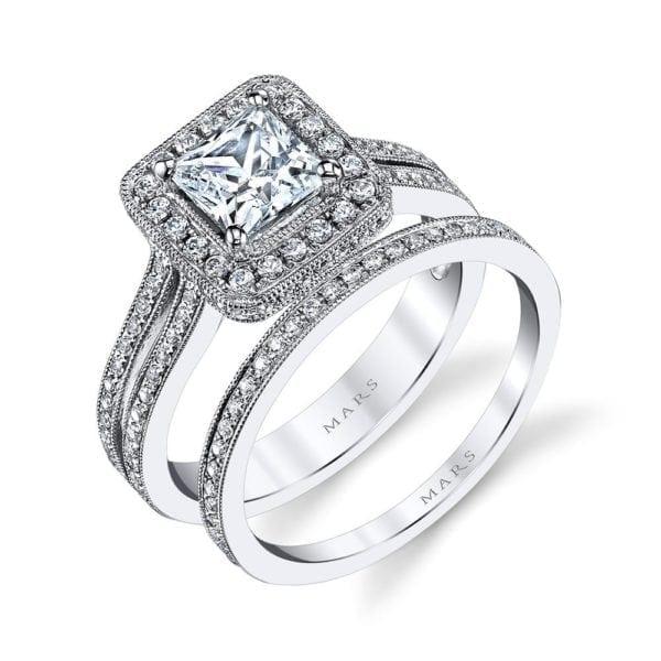 25014  Diamond Engagement Ring 0.42 Ctw.