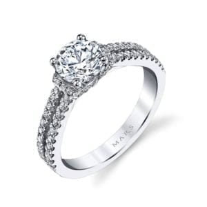25038 Diamond Engagement Ring 0.41 Ctw.