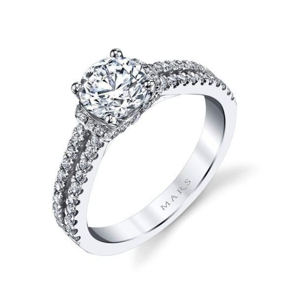 25038 Diamond Engagement Ring 0.41 Ctw.