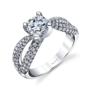 25101 Diamond Engagement Ring 0.94 Ctw.