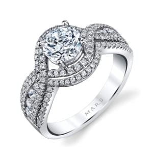25108 Diamond Engagement Ring 0.76 Ctw.