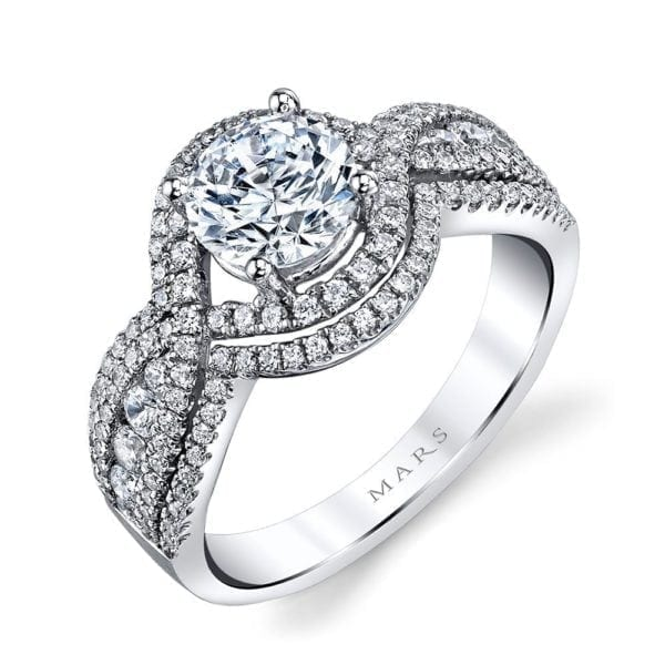 25108 Diamond Engagement Ring 0.76 Ctw.