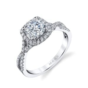 MARS 25127  Diamond Engagement Ring 0.47 Ctw.