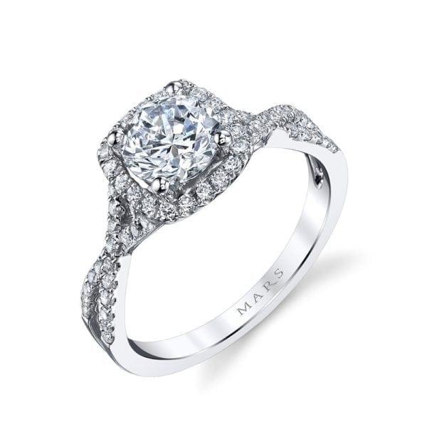 MARS 25127  Diamond Engagement Ring 0.47 Ctw.