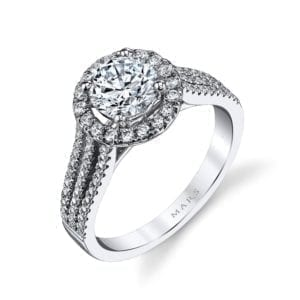 25128  Diamond Engagement Ring 0.54 Ctw.