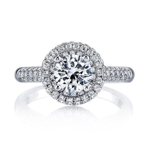 25132 Diamond Engagament Ring  0.79 Ctw.