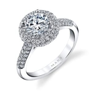 25132 Diamond Engagament Ring  0.79 Ctw.