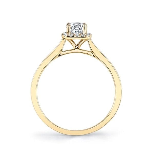 25150-R33-PS Diamond Engagement Ring 0.08 Ctw.