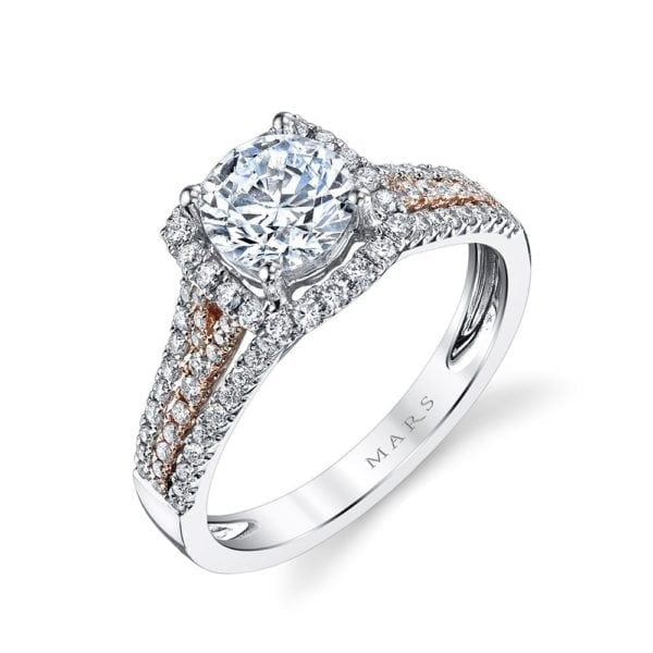25151  Diamond Engagement Ring 0.52 Ctw.