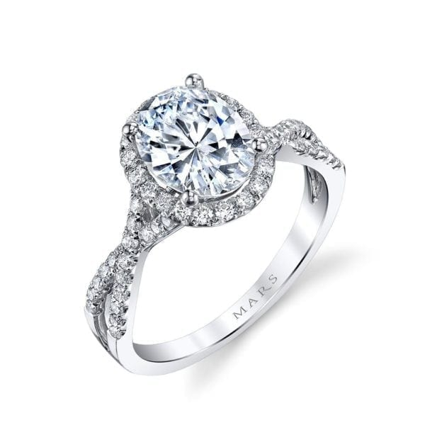 25156  Diamond Engagement Ring 0.43 Ctw.