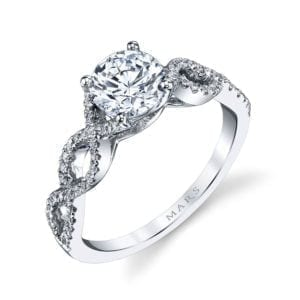 25162 Diamond Engagement Ring 0.18 Ctw.