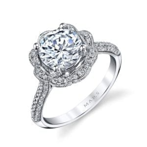 25255  Diamond Engagement Ring 0.47 Ctw.