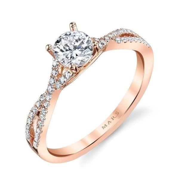 25279 Diamond Engagement Ring 0.20 Ctw.