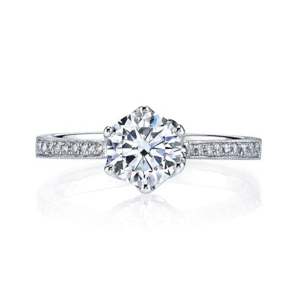 25283 Diamond Engagement Ring 0.16 Ctw.