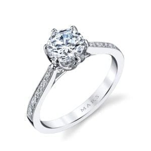 25283 Diamond Engagement Ring 0.16 Ctw.
