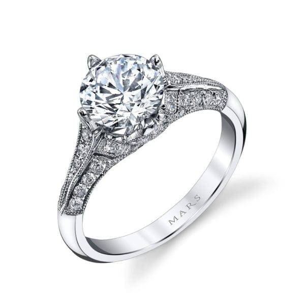 25321 Diamond Engagement Ring 0.40 Ctw.