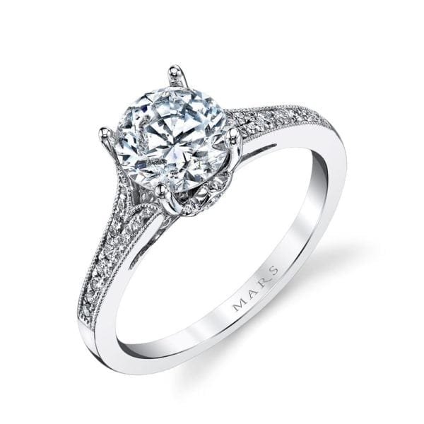 25330 Diamond Engagement Ring 0.17 Ctw.