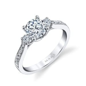 25352 Diamond Engagement Ring 0.38 Ctw.