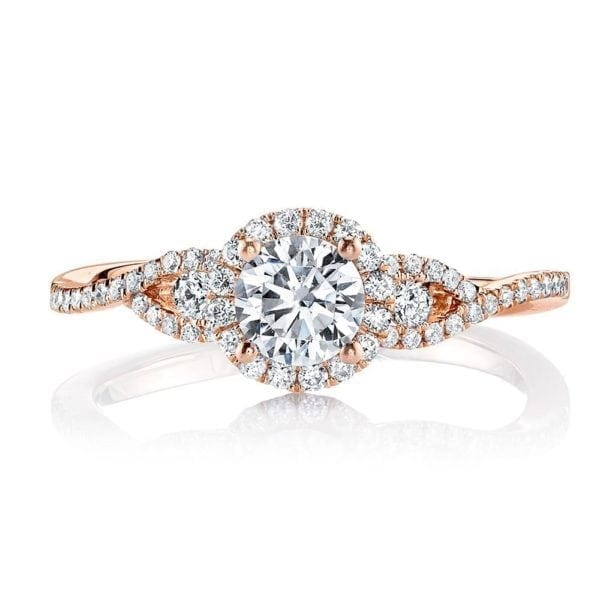 25386 Diamond Engagement Ring 0.08 Ctw.
