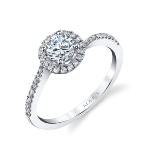 25393  Diamond Engagement Ring 0.22 Ctw.