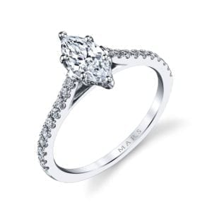 25451 Diamond Engagement Ring 0.28 Ctw.