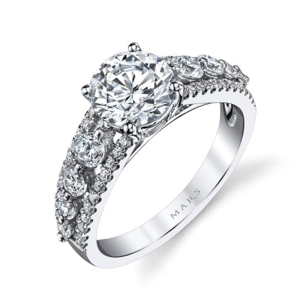 25526 Diamond Engagement Ring 0.71 Ctw.