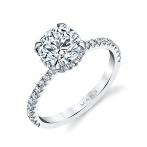 25527 Diamond Engagement Ring 0.32 Ctw.