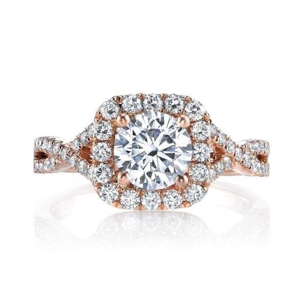 25560  Diamond Engagement Ring 0.58 Ctw.