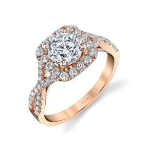 25560  Diamond Engagement Ring 0.58 Ctw.