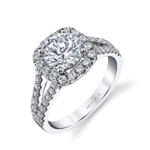 25563 Diamond Engagement Ring 0.95 Ctw.