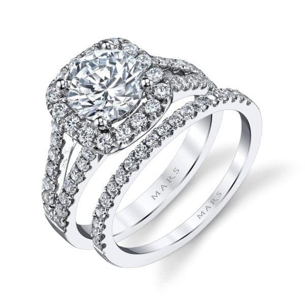 25563 Diamond Engagement Ring 0.95 Ctw.