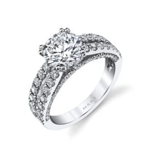 25564 Diamond Engagement Ring 0.87 Ctw.