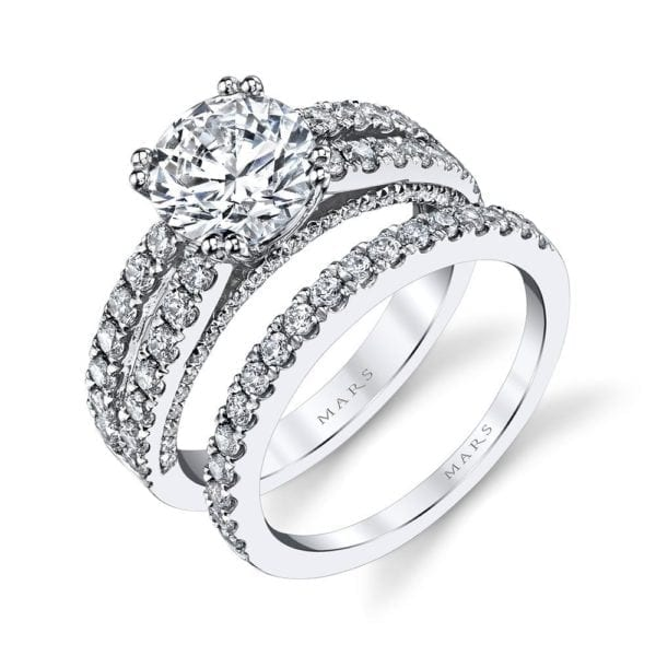 25564 Diamond Engagement Ring 0.87 Ctw.